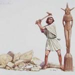 cutting down the asherah pole