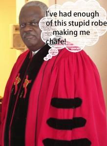 pastor in robe