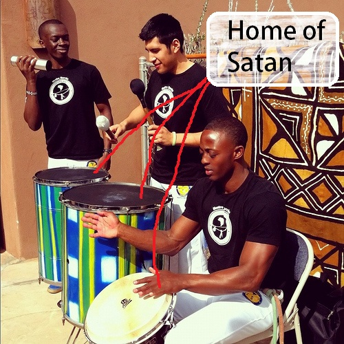 african drums in church
