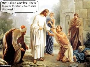 Jesus rejecting the needy