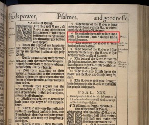 Psalm 29.6 KJV 1611 [unicorns in the Bible]