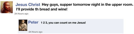 Jesus on Facebook excerpt