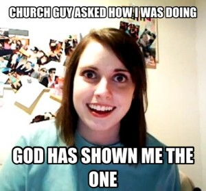 stalker girls in church