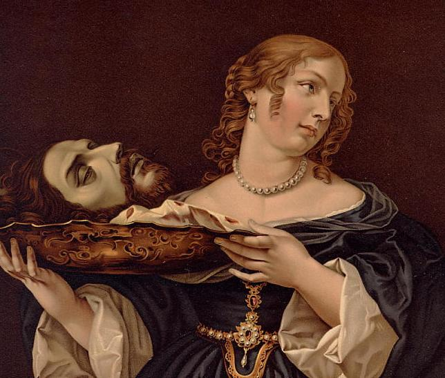Herodias with johns head