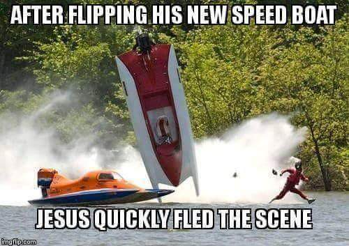 Jesus speed boat