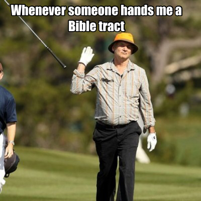 Bible tracts christian meme
