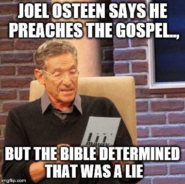 Joel Osteen liar
