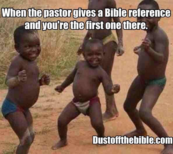 Church meme find the verse