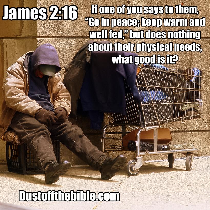 James 2:16