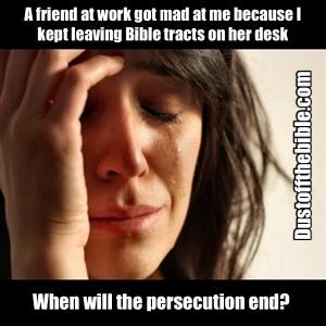 Persecution Christian meme