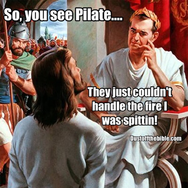 Jesus before pilate meme