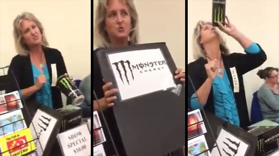 Monster energy drink lady