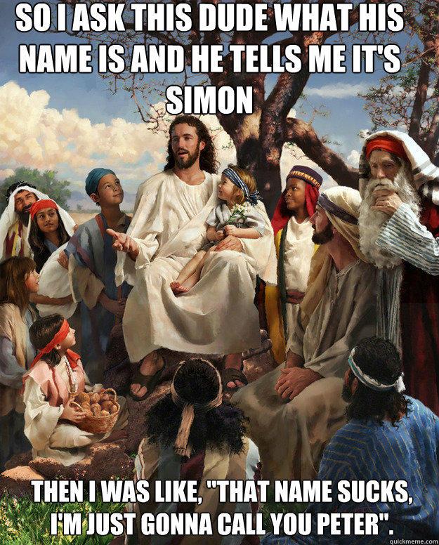 Story time jesus peter