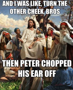 Storytime Jesus chopped his ear off