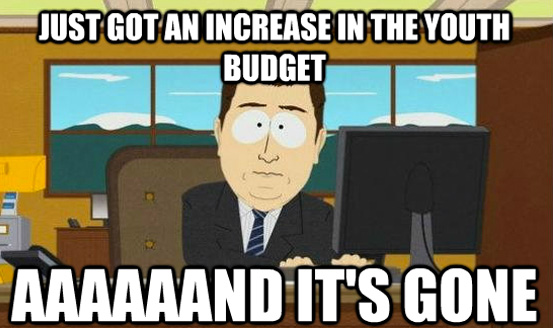 Youthmin Meme Youth Budget Blown