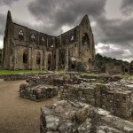 ground view Tintern Abbey Wales