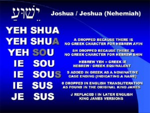 how we got jesus from joshua