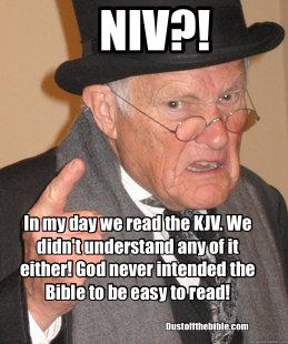 old guy KJV christian meme
