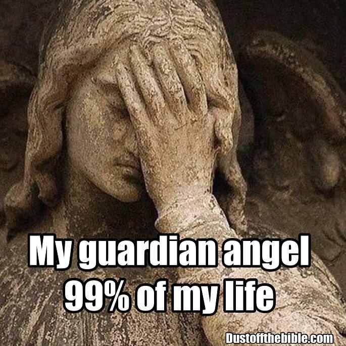 Guardian angel meme