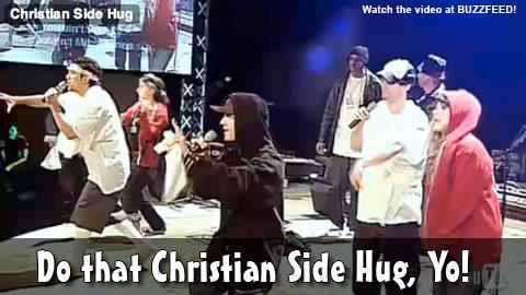 Christian side hug