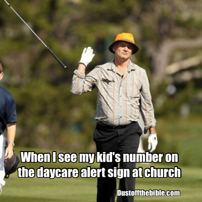 Kids at church christian meme
