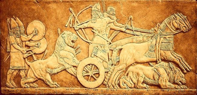 Sargon II Lion Hunting