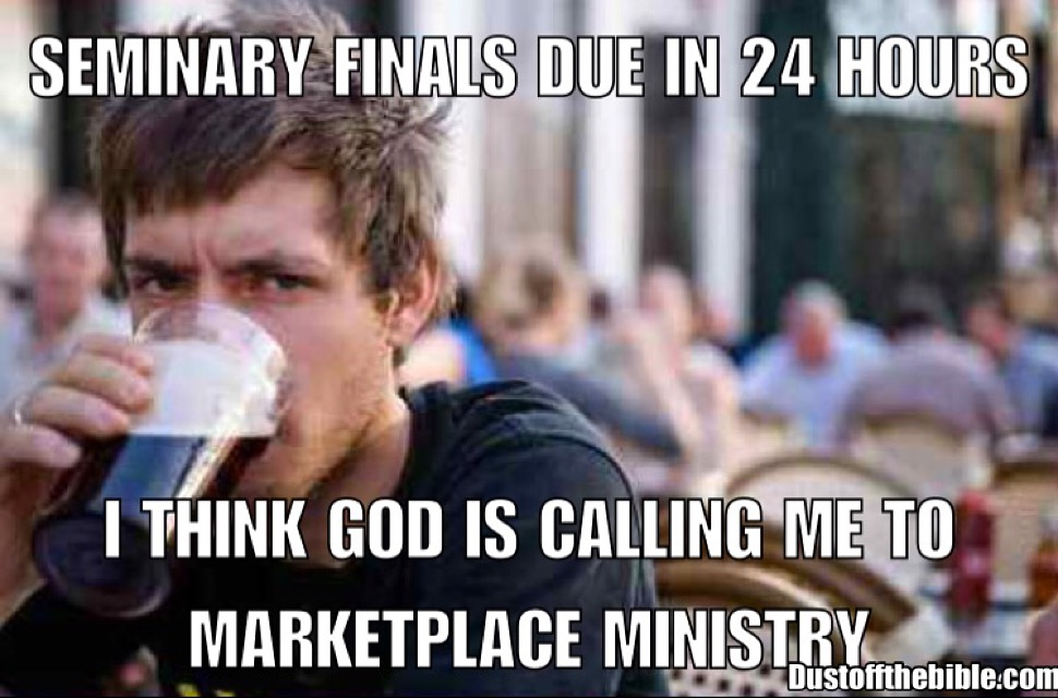 Seminary Finals Christian meme