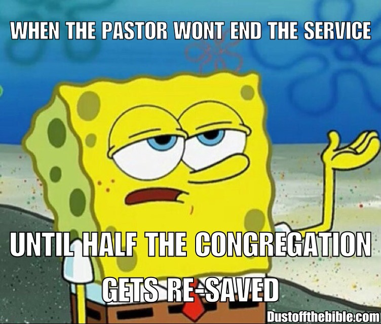 ending the service christian meme