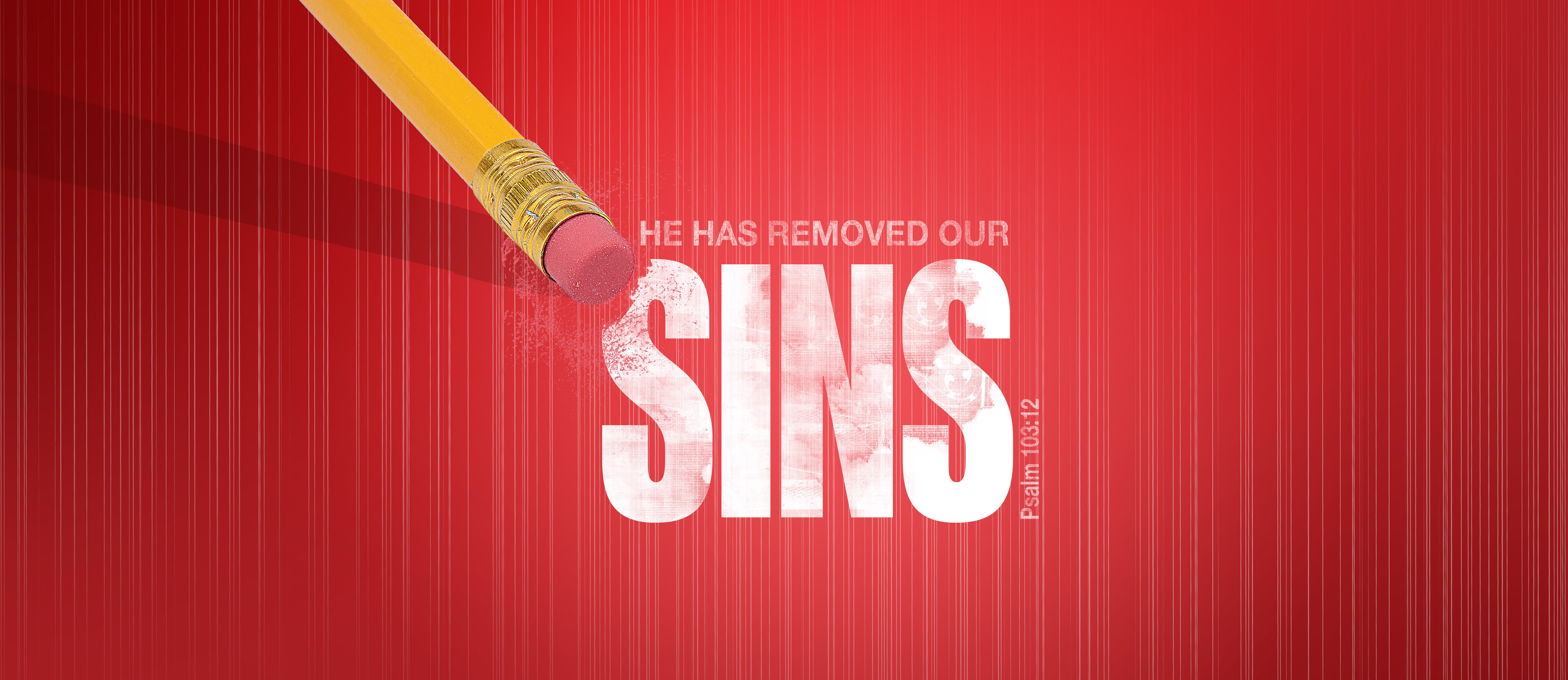 he has removed our sins