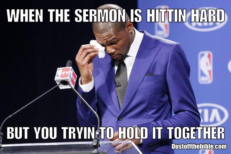 heavy sermon christian meme