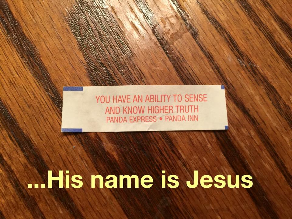 jesus fortune cookie