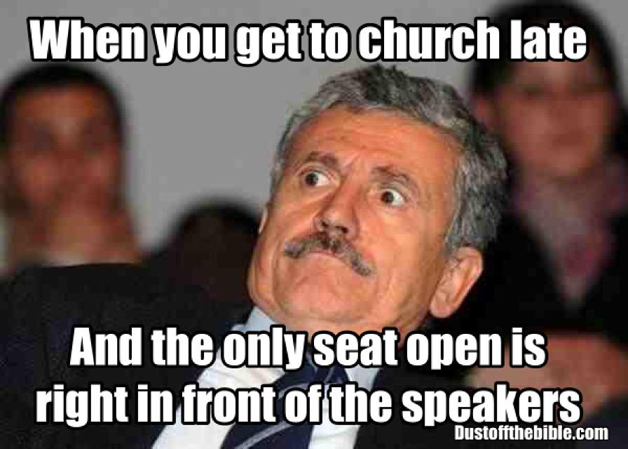 late to church christian meme