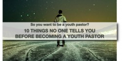 so you want to be a youth pastor