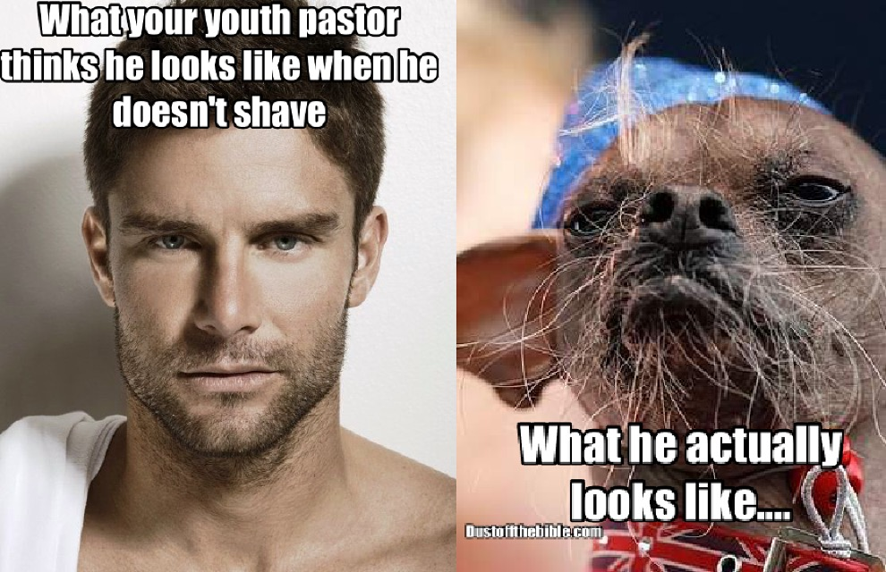 youth pastor facial hair meme