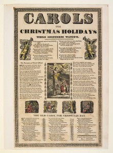 1830 Broadside Christmas Carols