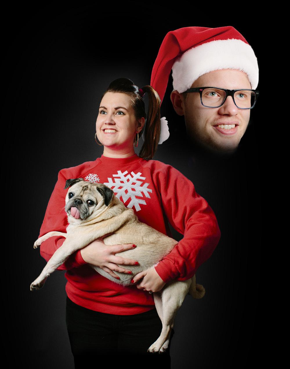 Awkward Christmas Card With Dog