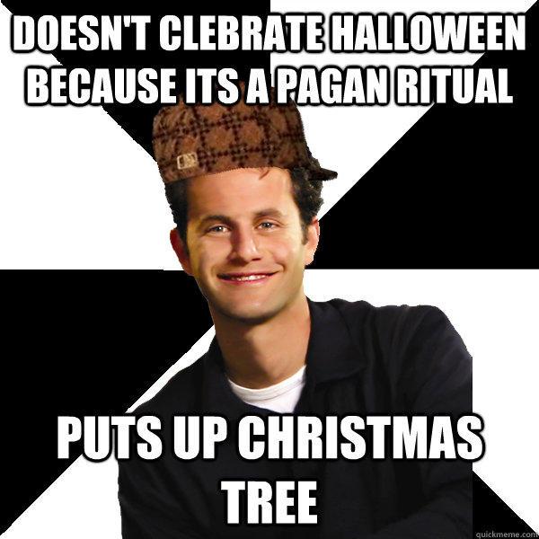 Christmas is pagan Christian meme