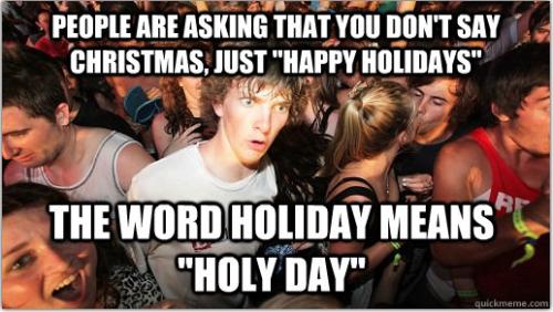 Holy Days Christian meme