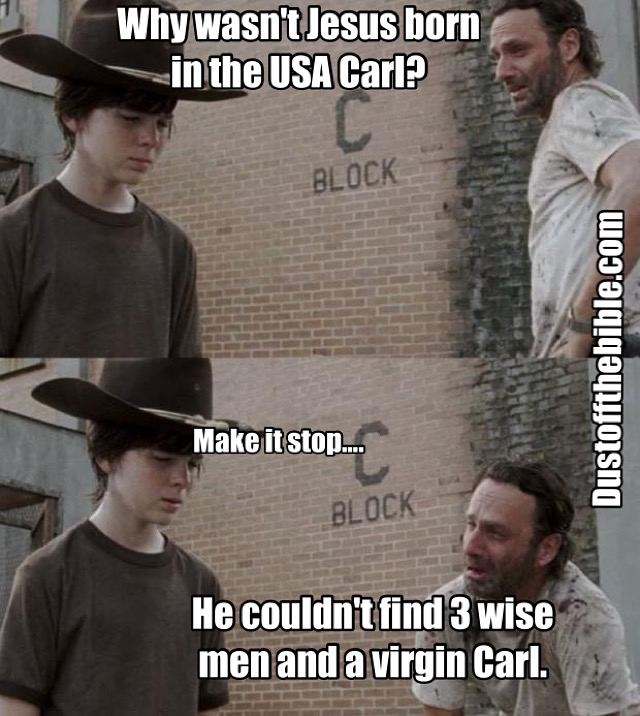 Jesus Birth Carl Walking Dead Meme