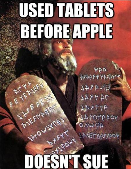 Moses tablets Christian meme