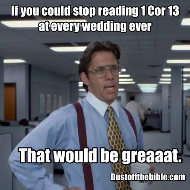 Office space wedding christian meme