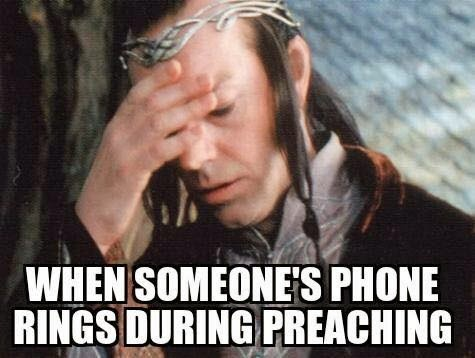 Phone ringing during service