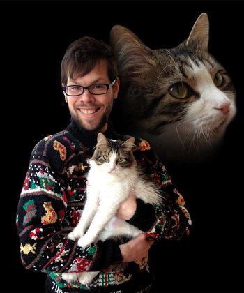 Strange Sweater With Cat Pic