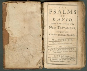 The Psalms of David- Imitated in the language of the New Testament, and applied to the Christian state and worship