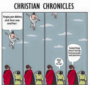 What did Jesus say Christian meme