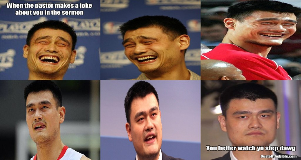 Yao Ming Pastor Church Meme