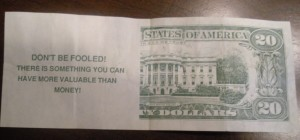 Fake money Bible tract