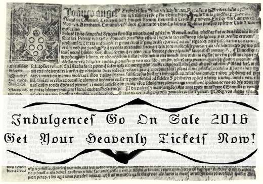indulgence certificate from pope Leo X