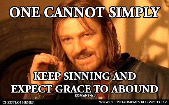 one cannot simply grace christian meme