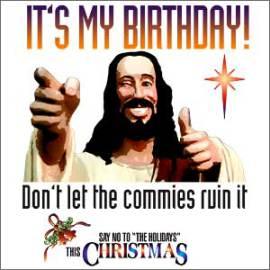 say no christmas Jesus meme